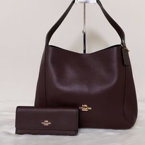 New💃Coach Hadley Leather Hobo and Wallet Set